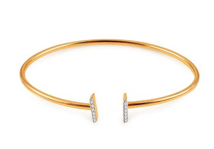 Goldarmband Armreif mit Brillanten 0,050 ct