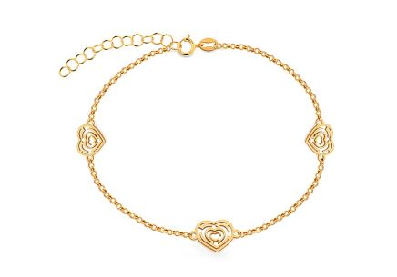 Goldenes VIP-Armband mit Labyrinthmuster