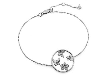 Armband mit Brillanten 0,093 ct Butterfly