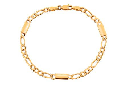 Elegantes Goldarmband Chains with Bar