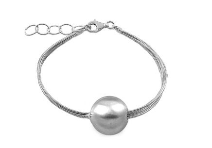 Damen Silberarmband Ball
