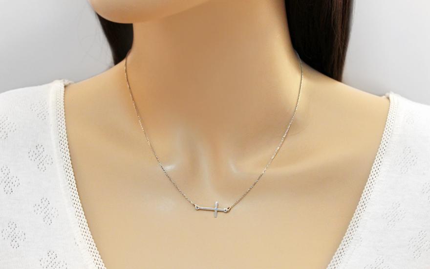 Goldkette damen kreuz  Damen Goldkette mit Kreuz, für Damen (IZ11526)   gSchmuck.at