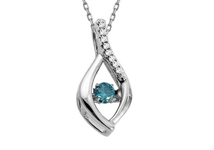 Anhänger mit blauem Diamanten Dancing Diamonds 0,130 ct