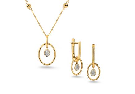 Brillant Goldset 0,080 ct