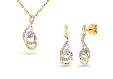 Brillant Goldset 0,250 ct