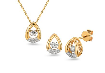 Brillant Goldset 0,280 ct