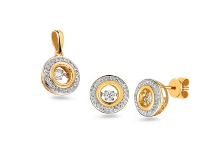 Brillant Set 0,430 ct Dancing Diamonds