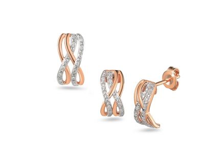 Brillant Set aus Roségold 0,090 ct