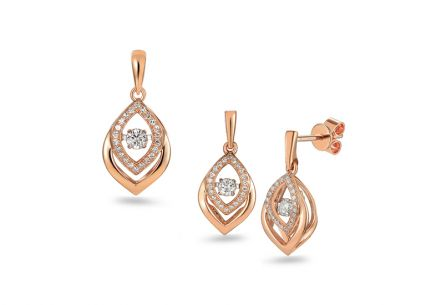 Brillant Set aus Roségold 0,360 ct Dancing Diamonds