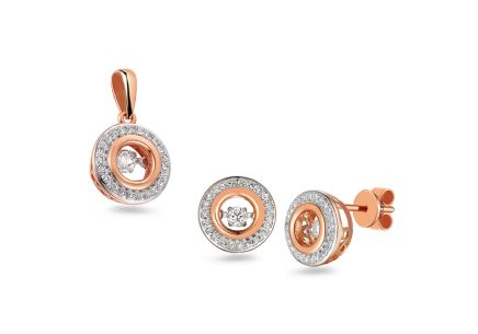 Brillant Set aus Roségold 0,400 ct Dancing Diamonds