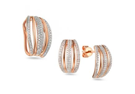 Brillant Set aus Roségold 0,540 ct Merlien