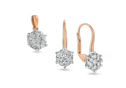 Brillant Set aus Roségold 0,690 ct