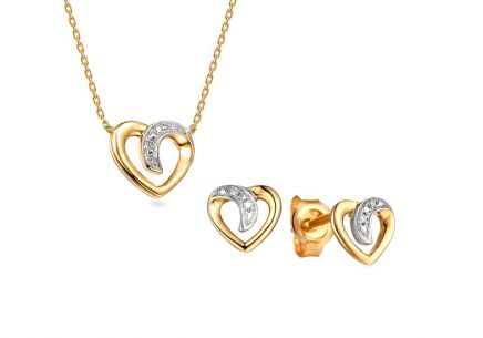 Brillant Set Herz 0,020 ct