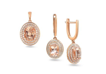 Brillant Set mit Morganiten aus der Kollektion Morganite 0,670 ct