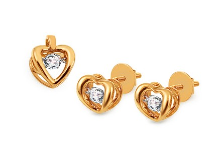 Diamant Set 0,430 ct Dancing Diamonds