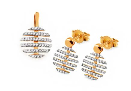 Gold Diamant Set 0,260 ct Adalwine