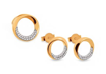 Goldset mit Diamanten 0,150 ct Adria
