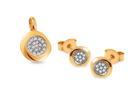 Goldset mit Diamanten 0,180 ct Ailika