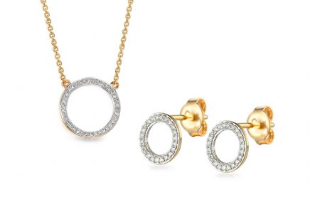Goldset mit Diamanten 0,180 ct Fusain