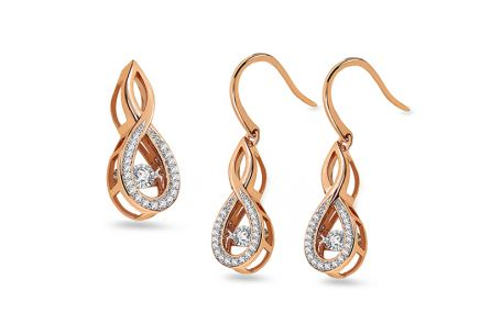 Set aus Roségold Dancing Diamonds