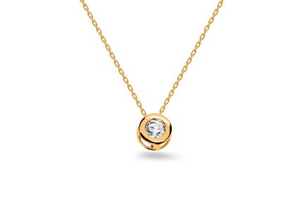 Diamant Gold Halskette 0,060 ct