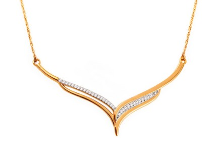 Gold Halskette mit Diamanten 0,080 ct Karissa