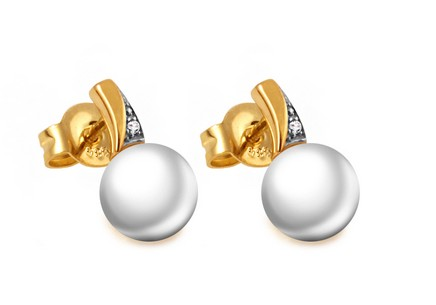 Diamantohrringe 0,010 ct Gold Pearl