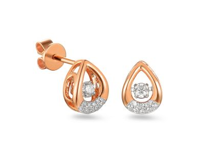 Brillant Ohrringe aus Roségold 0,180 ct Dancing Diamonds