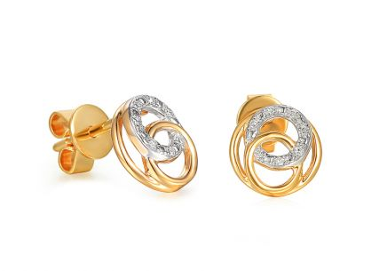 Gold Brillant Ohrringe 0,030 ct Ringe