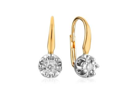 Goldohrringe mit Brillanten 0,080 ct