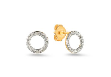 Goldohrringe mit Diamanten 0,090 ct Fusain