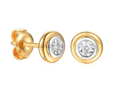 Goldohrringe Ohrstecker mit Diamanten 0,050 ct Christabel