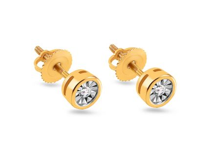 Goldohrstecker mit Diamanten 0,060 ct Mariya 13