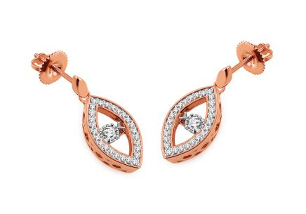 Ohrringe aus Roségold mit Diamanten 0,250 ct Dancing Diamonds