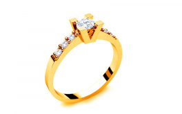 Verlobungsring mit Diamanten 0,360 ct Key To Heart 3 Yellow