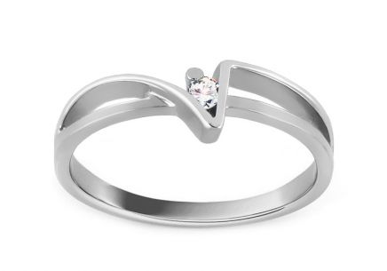 Verlobungsring Of love mit Brillanten 0,030 ct white