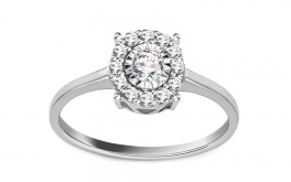 Diamant Ring 0,190 ct Talia 2 white