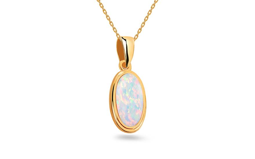 Gold Halskette mit Opal Nabila, für Damen (IZ13203NH ...