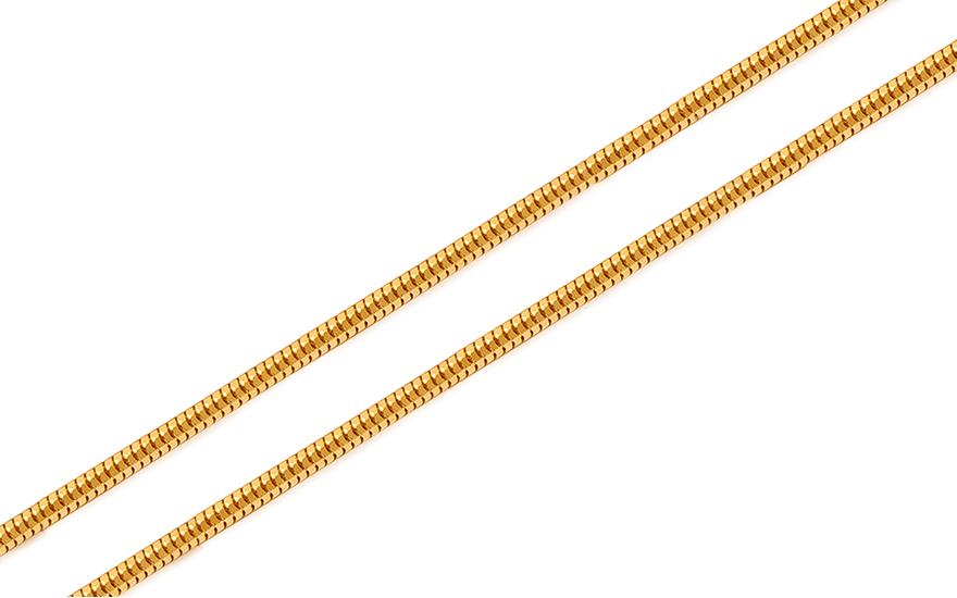 Goldkette Snake - Seil 1,2 mm - IZ10262