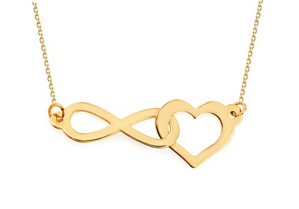 Gold Halskette Infinity Heart