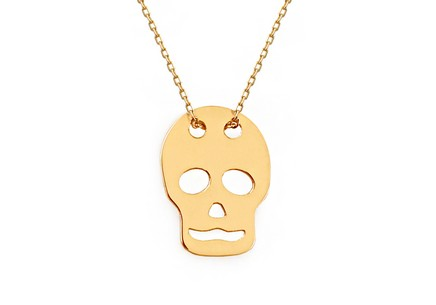 Goldkette Rebellin Skull 2 Celebrity
