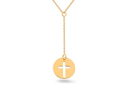 Goldkette mit Anhänger Cross Celebrity