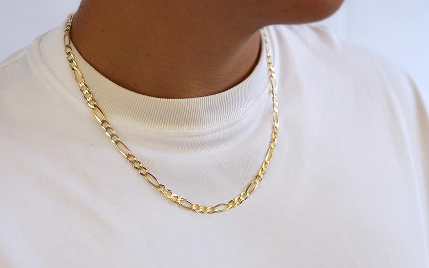 Herren Goldkette Figaro 5 mm, für Herren (IZ4376