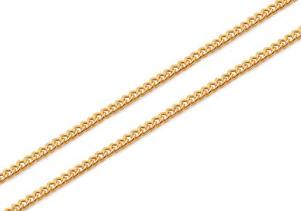 Damen Goldkette Curb-Muster