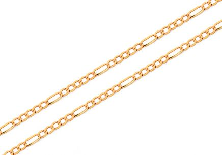 Goldkette Figaro 1 mm