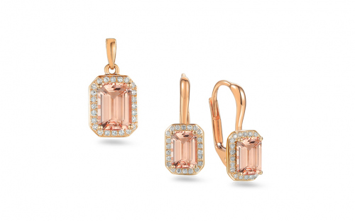 Goldene Schmuck Sets - Morganite