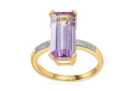 Amethyst Ring mit Brillanten aus der Kollektion Lilly 0,080 ct