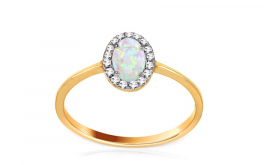 Goldring mit Opal Angelina 1