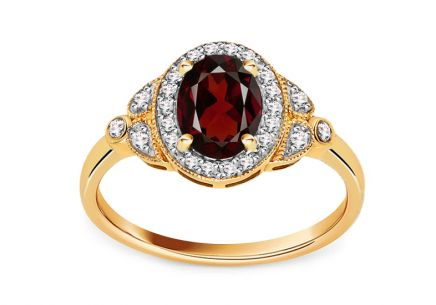 Brillant Ring mit Granat