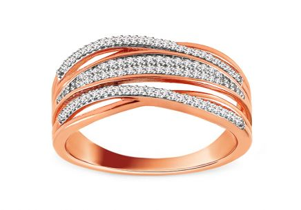 Brillant Ring aus Roségold 0,170 ct Vilana